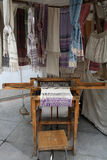 Handicraft products woven with old methods on looms. Stock Photo