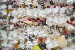 Handicraft from seashell Royalty Free Stock Photos