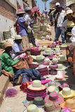 Handicraft sellers in Madagascar Stock Photos