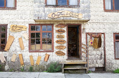 Handicraft shop, Chile Royalty Free Stock Images