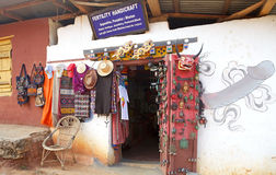 Handicraft shop, Sopsokha, Punakha, Bhutan Stock Photography