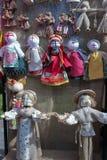 Handicraft souvenir dolls. Handicraft decorative dolls, ethnic style toy Stock Photos