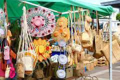 Handicraft stall, Rodrigues Island Stock Images
