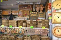 Handicraft Store in Pisa. Wooden handicrafts in one of the street stores in Pisa Royalty Free Stock Images