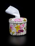 Handicraft tissue box. With decoupage paper napkins Royalty Free Stock Image