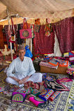 Handicraft vendor in his shop, Kutch, Gujarat, India Royalty Free Stock Photo