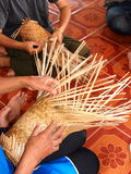 Handicraft weaving products Stock Image