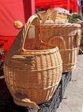 Handicraft wicker baskets Royalty Free Stock Photo