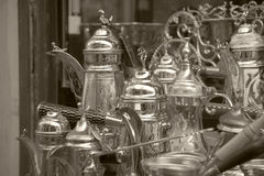 Handicrafts. In the city of Damascus, Syria Stock Images