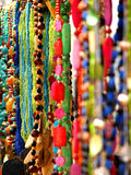 Handicrafts. Hand made items made up of beads Stock Image