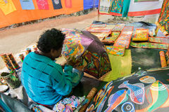 Handicrafts are being prepared for sale in Pingla village, West Bengal, India Stock Images