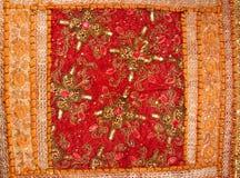 Handicrafts cloth texture Royalty Free Stock Photos