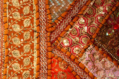 Handicrafts cloth texture royalty free stock photography