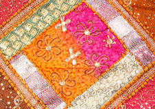 Handicrafts cloth texture Stock Images
