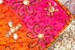 Handicrafts cloth texture Stock Images