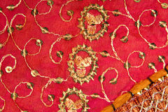 Handicrafts cloth texture Stock Photography