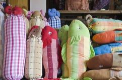 Handicrafts cotton shop Stock Photo