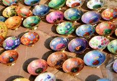 Handicrafts, Jaipur, India. Metal Handicrafts- colourful fruit bowls Stock Image