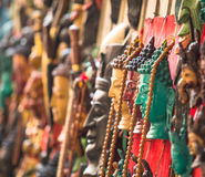 Handicrafts in Kathmandu (Buddha heads), Nepal Royalty Free Stock Image