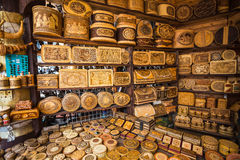 Handicrafts made of birch bar Stock Photo