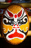 Handicrafts. These are masks made ​​of bamboo Royalty Free Stock Photo