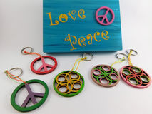 Handicrafts peace and love. royalty free stock image