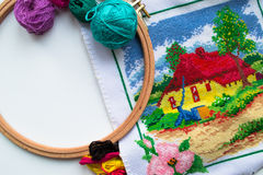 Handicrafts - Sewing and Embroidery Royalty Free Stock Images