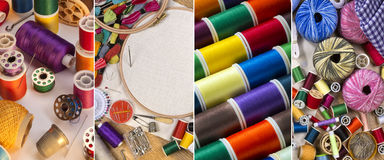 Handicrafts - Sewing and Embroidery Stock Image