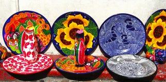 Handicrafts of taxco stock photos