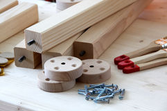 Handicrafts from wood Royalty Free Stock Photos