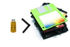 Handige aandrijving met de diskettes Royalty-vrije Stock Afbeelding