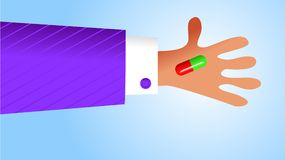 Handige drugs vector illustratie