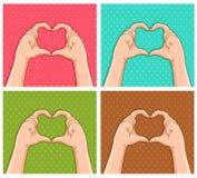 Handige harten Stock Afbeelding