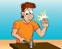 Handige mens vector illustratie