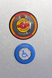 Handikap-Knopf lizenzfreie stockbilder