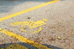 Handikap-Parken Stockfoto