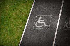 Handikap-Parklücke lizenzfreies stockfoto