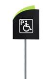 Handikap-Parkzeichen lizenzfreie stockbilder