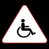Handikap-Symbol Stockfoto