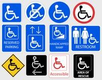 Handikap-Symbol-Grafik- Vektorillustration Lizenzfreies Stockbild