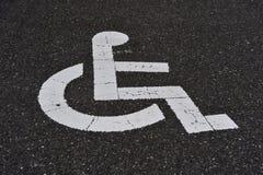 Handikap-Zeichen Lizenzfreies Stockfoto