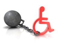 handikapp Arkivbilder