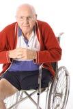 handikapp isolerad manrullstolwhite Royaltyfri Bild