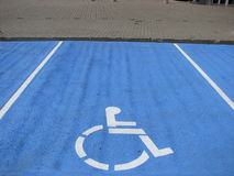 handikapp parkering Arkivbild