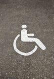 Handikapp signalering arkivbild