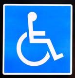 handikapp tecknet Arkivbilder