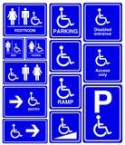handikappad mansymbolkvinna Arkivfoton