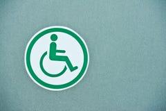 handikappad offentlig wc för toalettteckentoaletter Arkivbilder