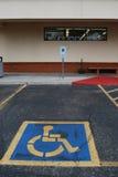 handikappad parkering Royaltyfri Bild