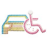 handikappad parkering Royaltyfria Bilder
